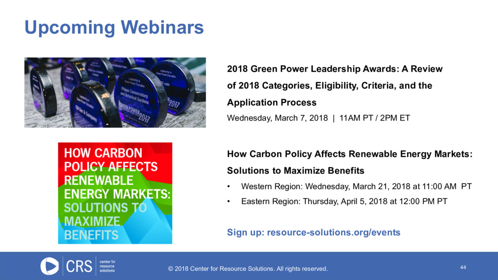 44 2018 Green Power Leadership Awards: A Review...