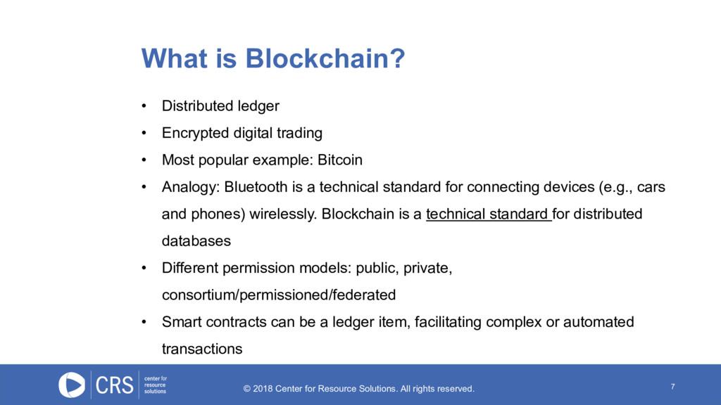 7 • Distributed ledger • Encrypted digital trad...