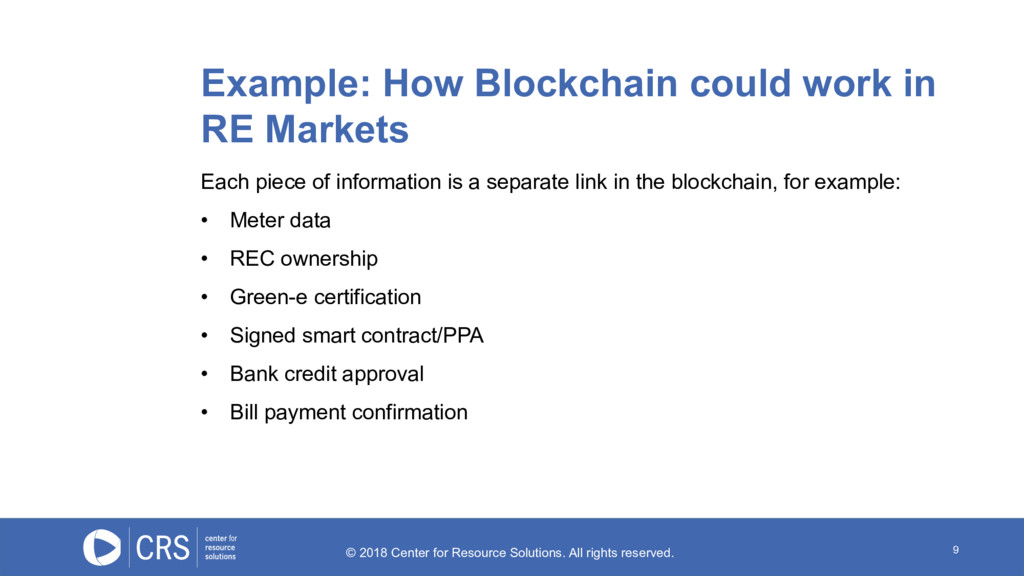 9 Example: How Blockchain could work in RE Mark...