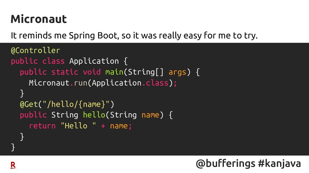 @bufferings #kanjava It reminds me Spring Boot,...
