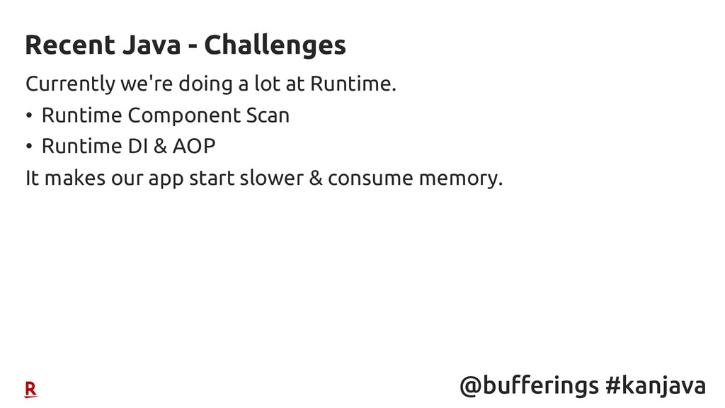 @bufferings #kanjava Currently we're doing a lo...