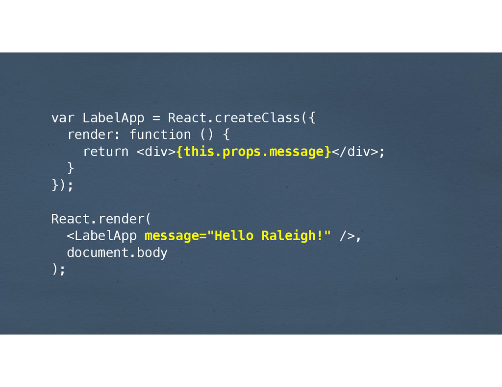 var LabelApp = React.createClass({ render: func...