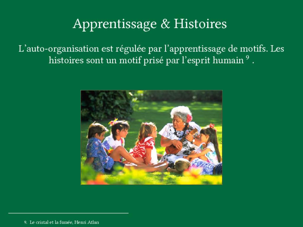 Apprentissage & Histoires L'auto-organisation e...
