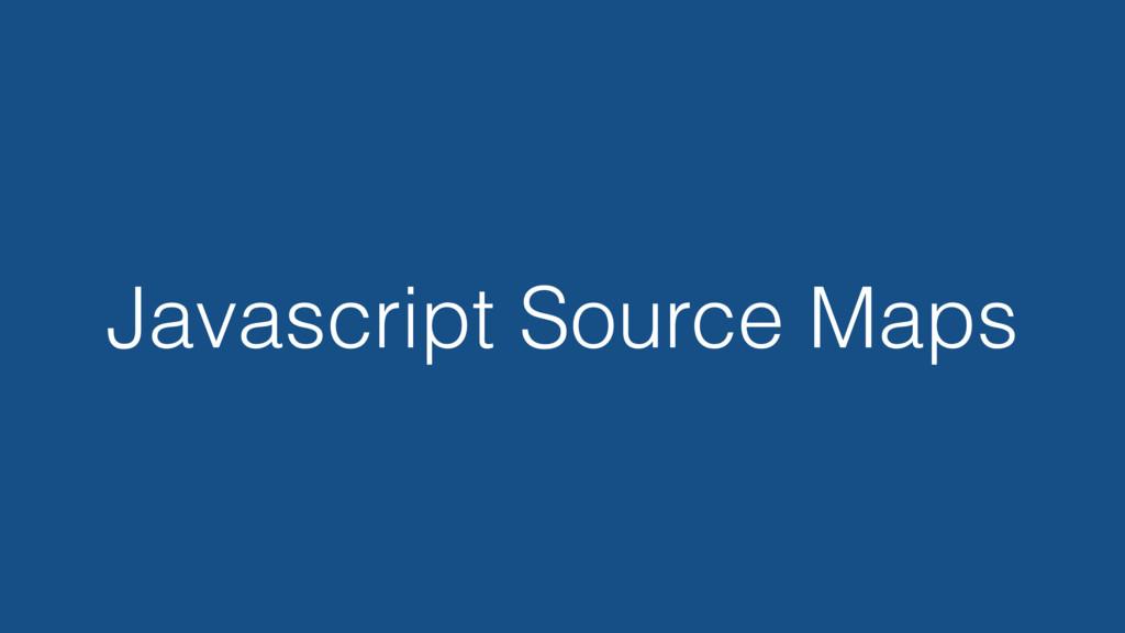 Javascript Source Maps