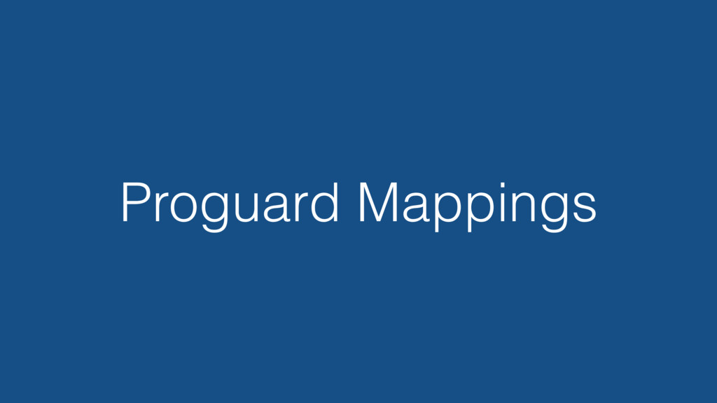 Proguard Mappings