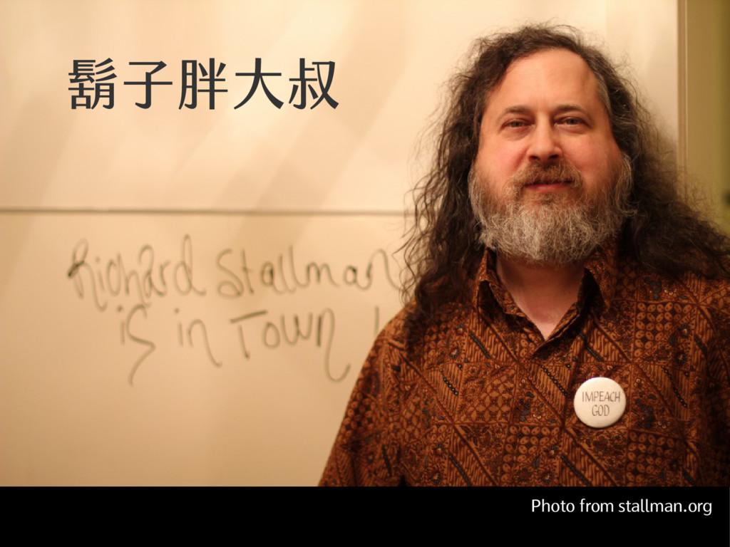 鬍子胖大叔 Photo from stallman.org