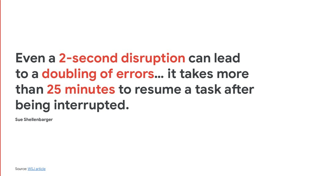 Even a 2-second disruption can lead to a doubli...