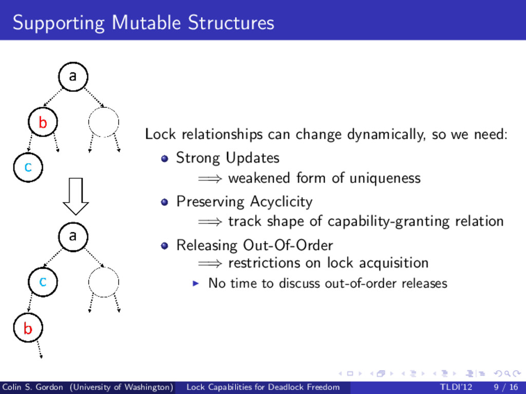 Supporting Mutable Structures Lock relationship...
