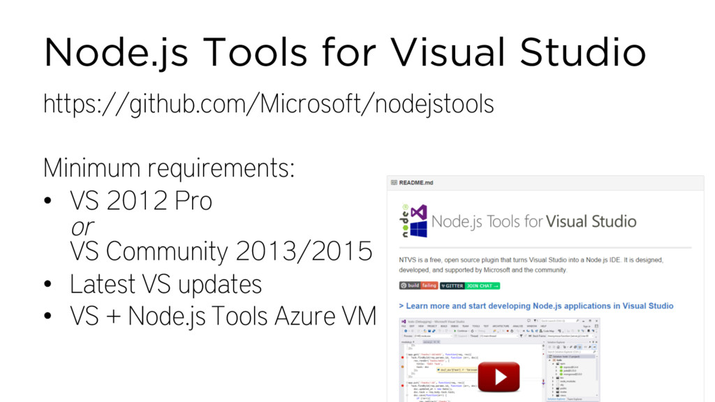 Node.js Tools for Visual Studio https://github....