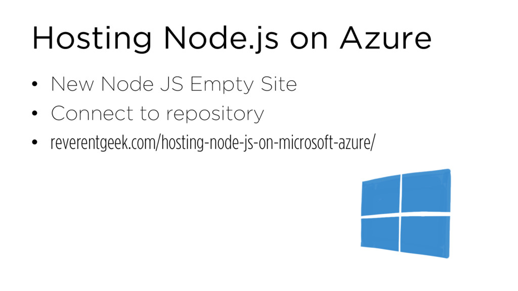 Hosting Node.js on Azure • New Node JS Empty Si...