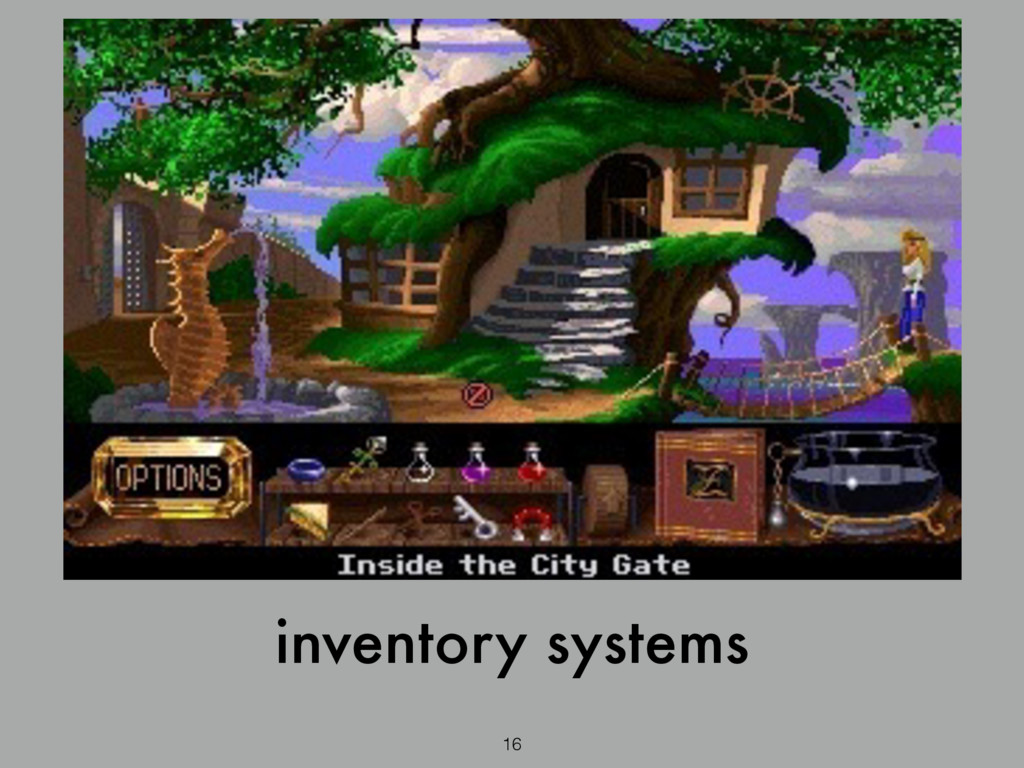 16 inventory systems