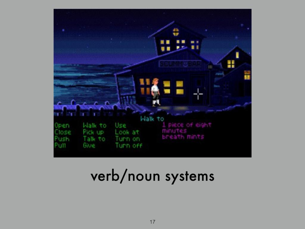 17 verb/noun systems