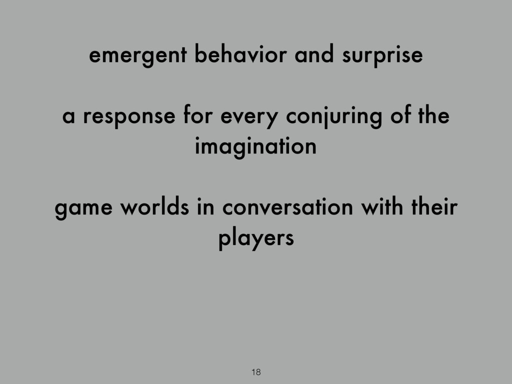 emergent behavior and surprise ! a response for...