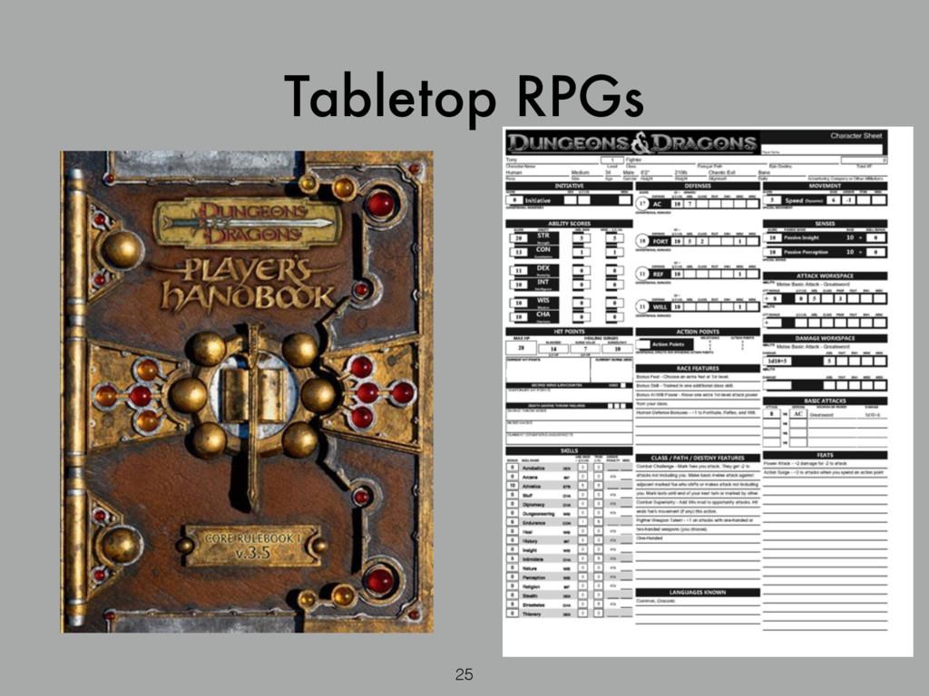 25 Tabletop RPGs