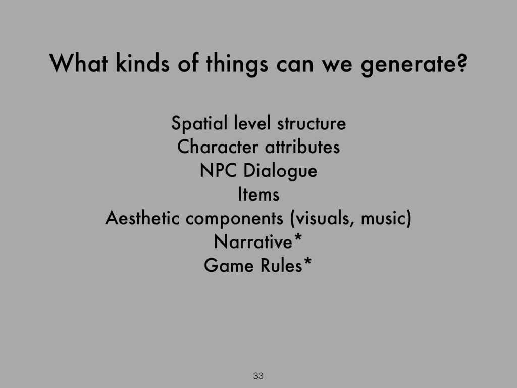 Spatial level structure Character attributes NP...