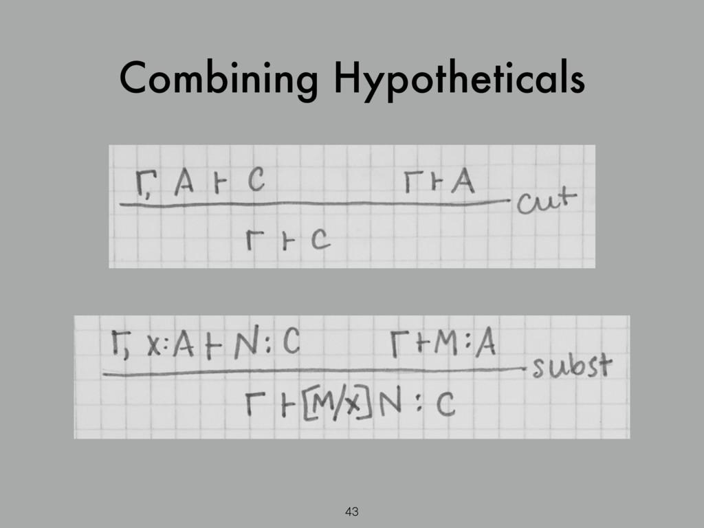 Combining Hypotheticals 43