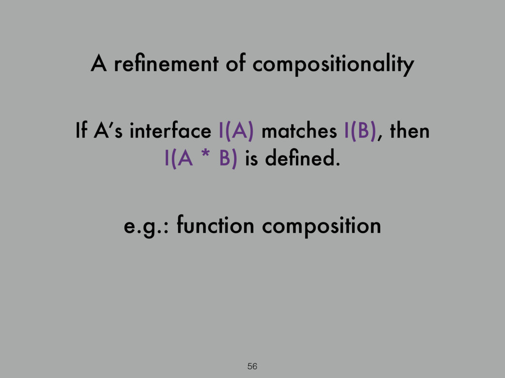 56 A refinement of compositionality If A's inter...