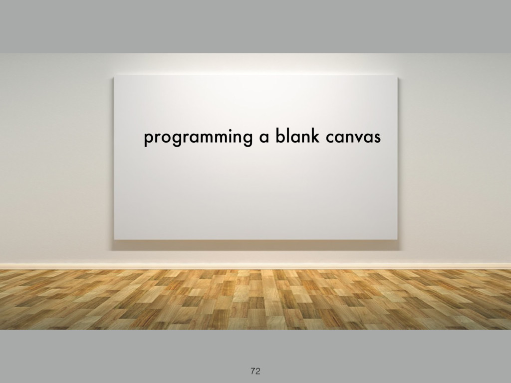 programming a blank canvas 72
