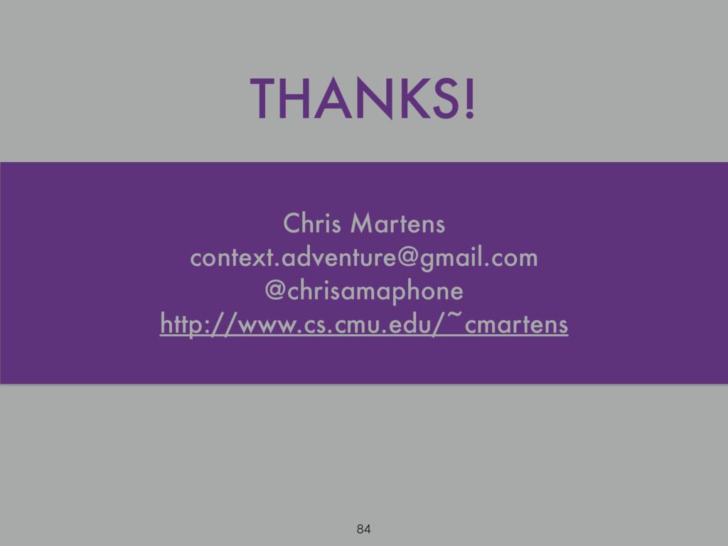 Chris Martens context.adventure@gmail.com @chri...