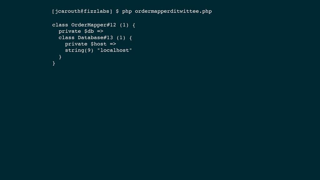 class OrderMapper#12 (1) { private $db => class...