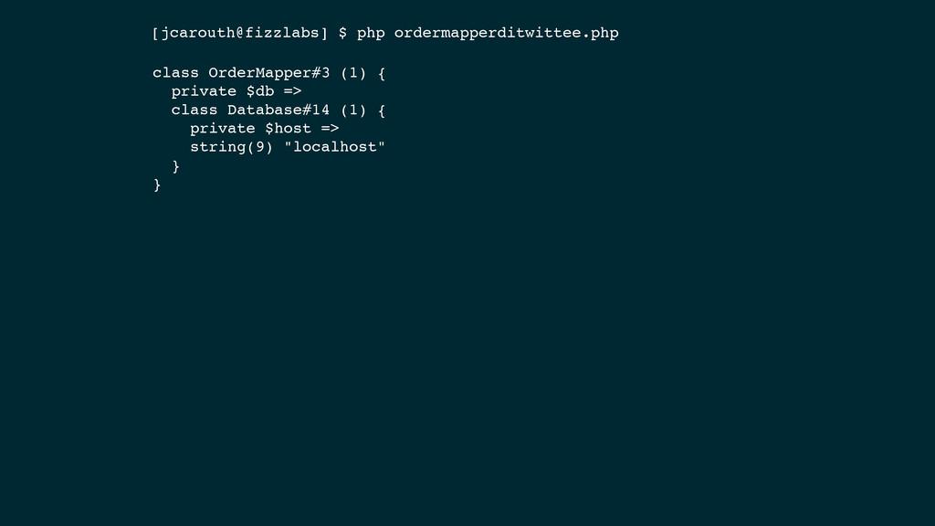class OrderMapper#3 (1) { private $db => class ...