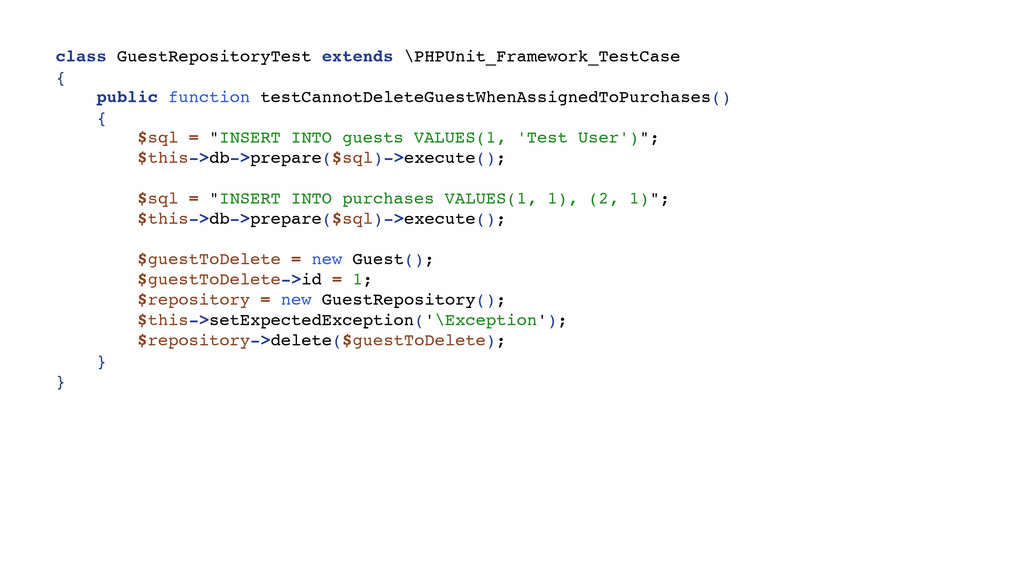 class GuestRepositoryTest extends \PHPUnit_Fram...