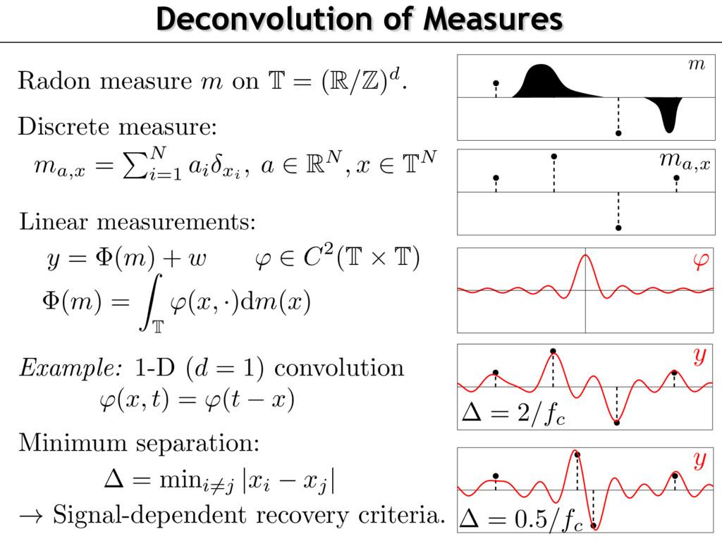 y Discrete measure: ma,x = P N i =1 ai xi , a 2...