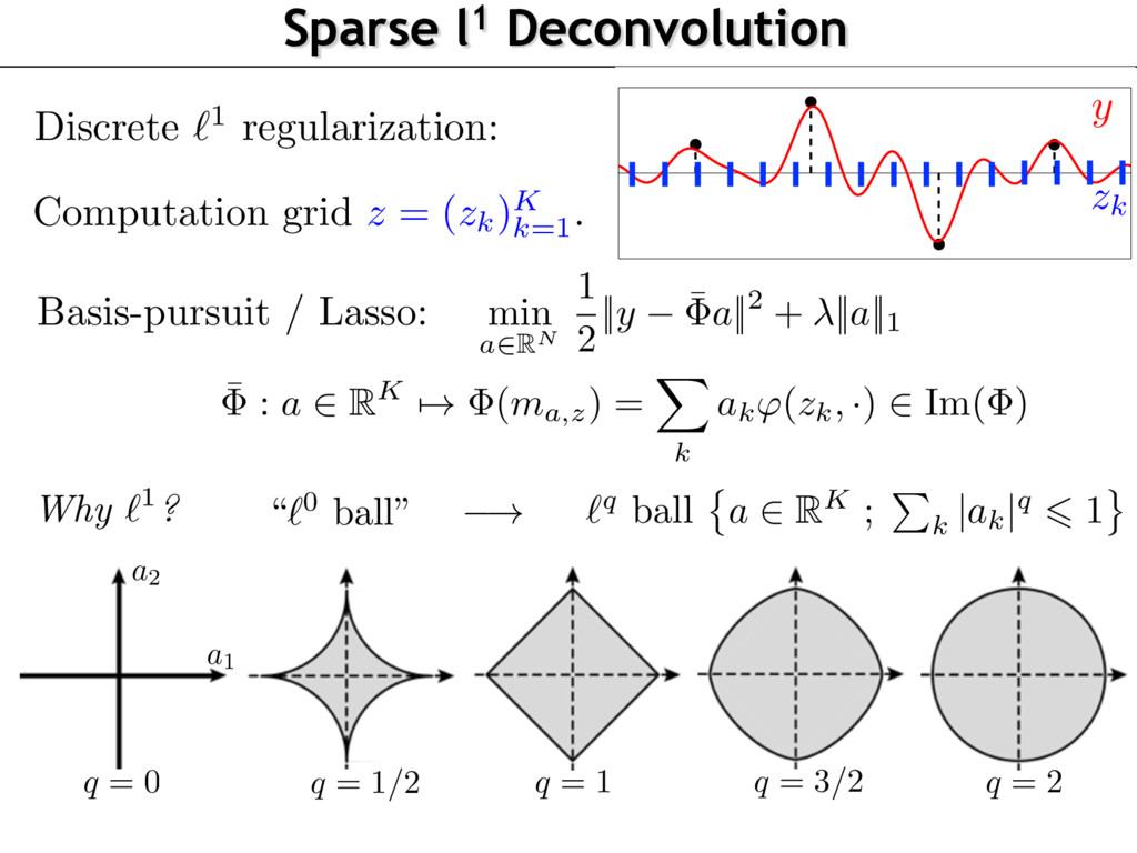 Discrete `1 regularization: Computation grid z ...