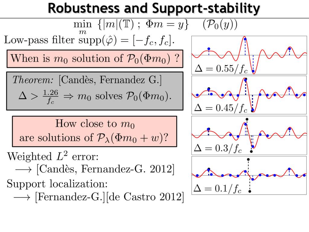 ! [Cand` es, Fernandez-G. 2012] (P0(y)) Robustn...