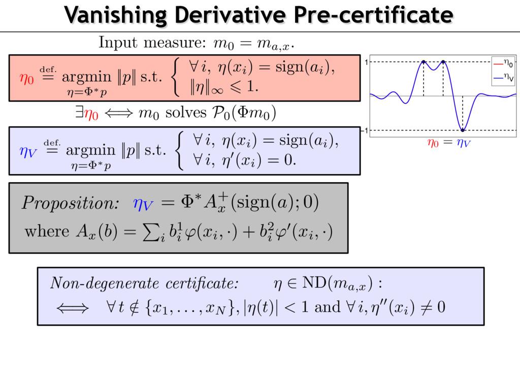 −1 1 η 0 η V ⌘0 = ⌘V Vanishing Derivative Pre-c...