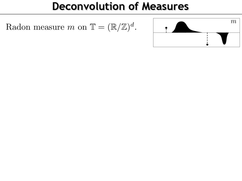 Radon measure m on T = ( R/Z ) d . Deconvolutio...