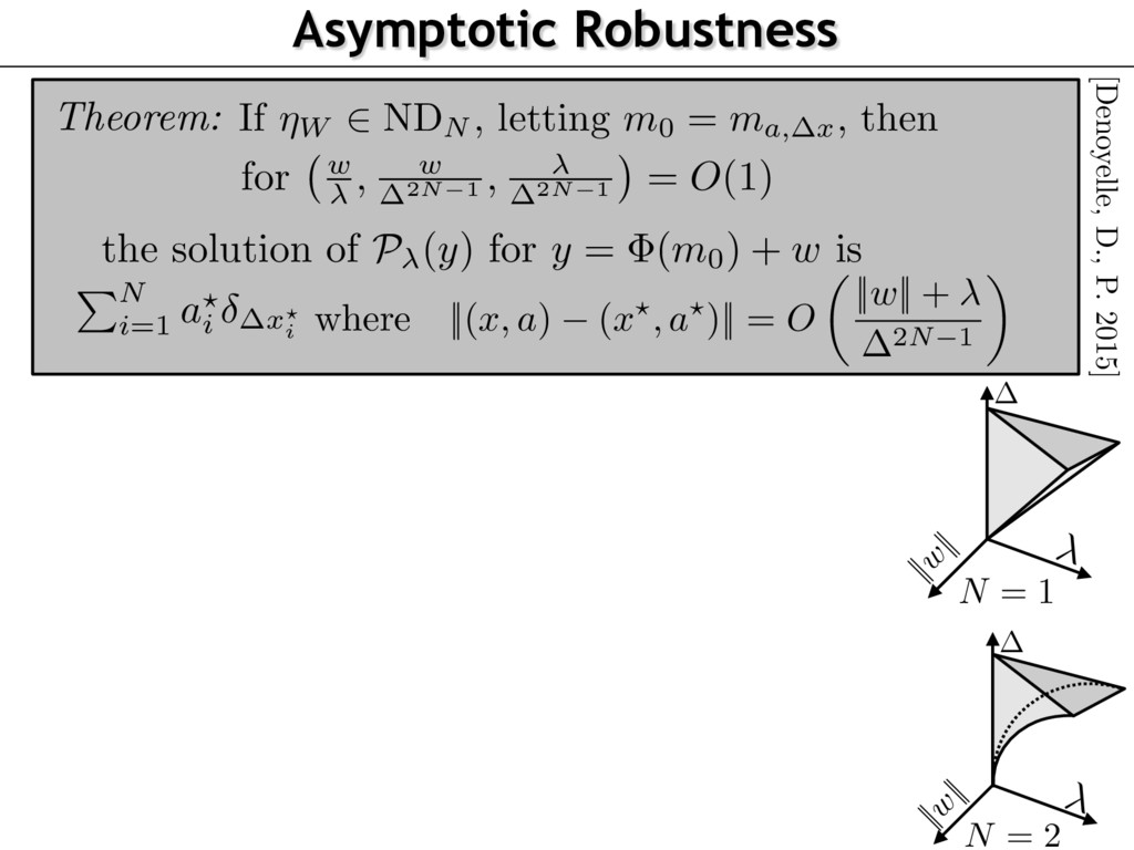 Asymptotic Robustness Theorem: the solution of ...