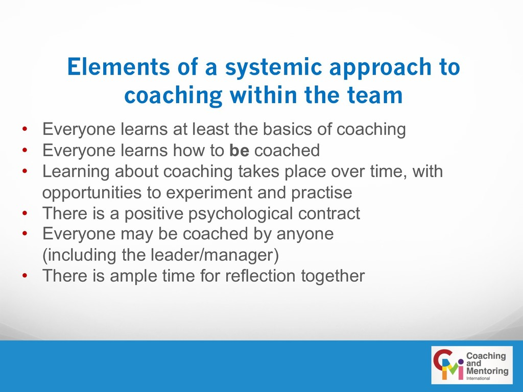 Elements of a systemic approach to coaching wit...