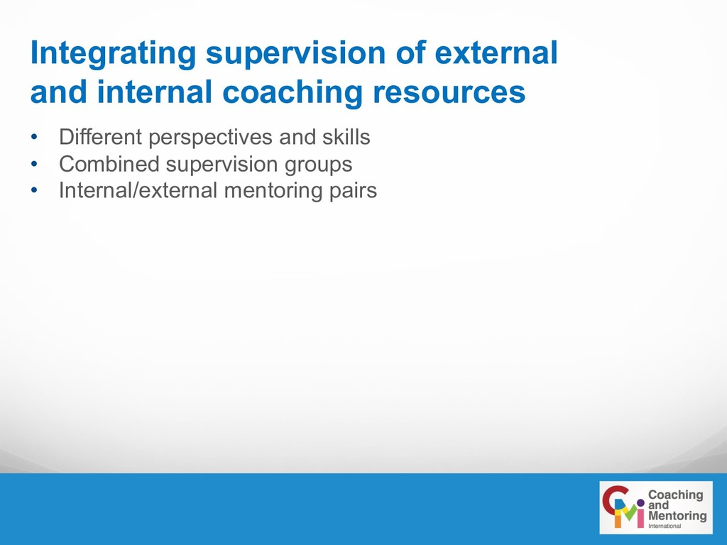 Integrating supervision of external and interna...