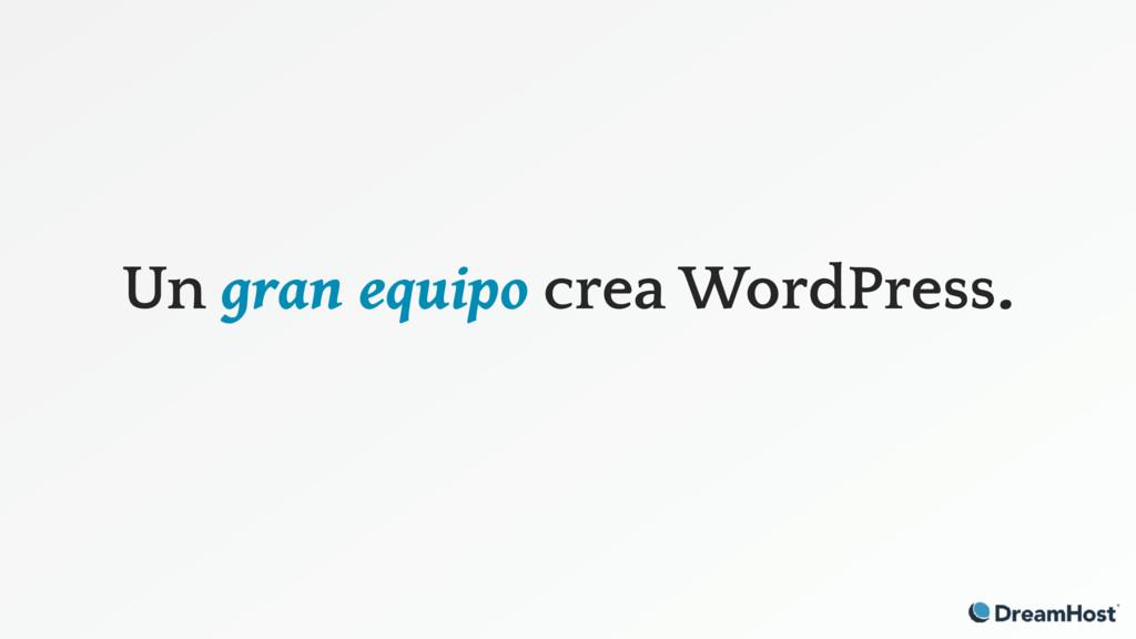 Un gran equipo crea WordPress.