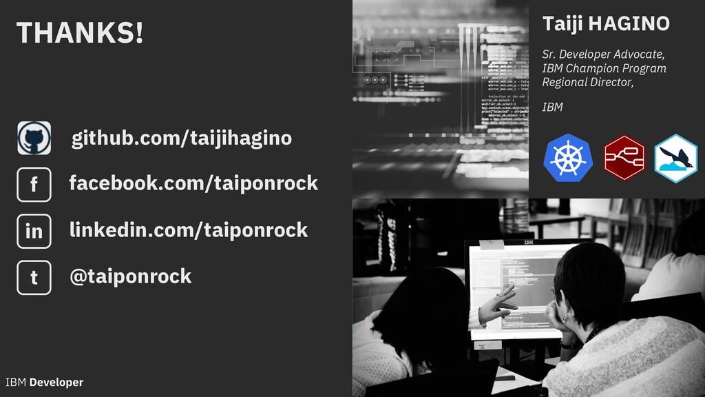 github.com/taijihagino Taiji HAGINO Sr. Develop...