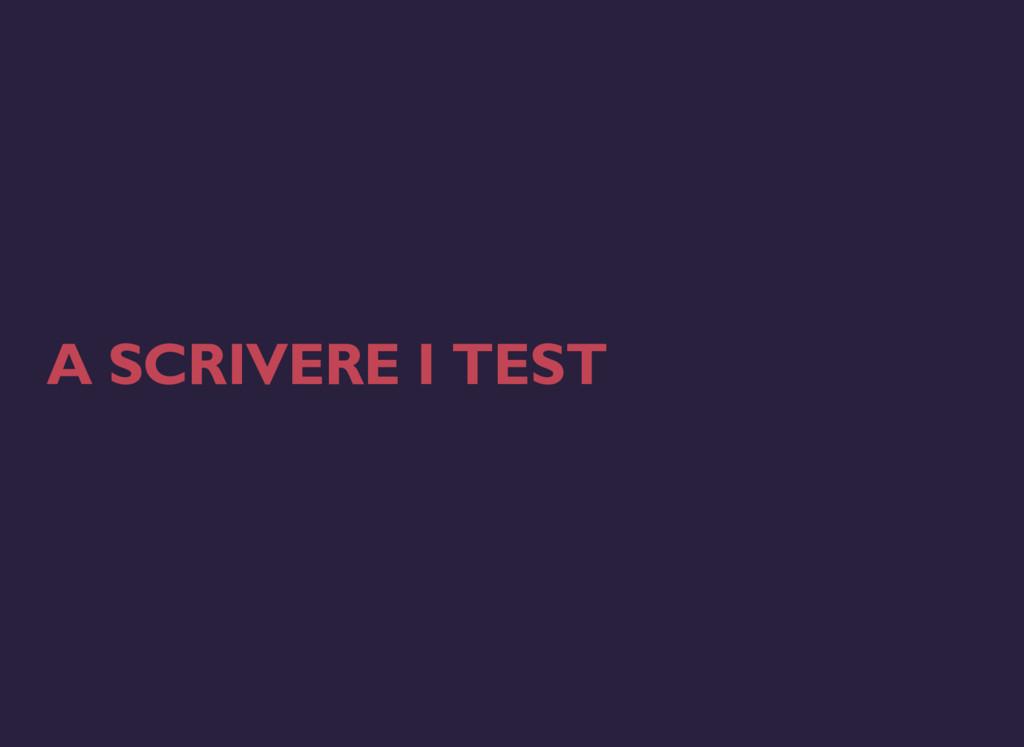 A SCRIVERE I TEST