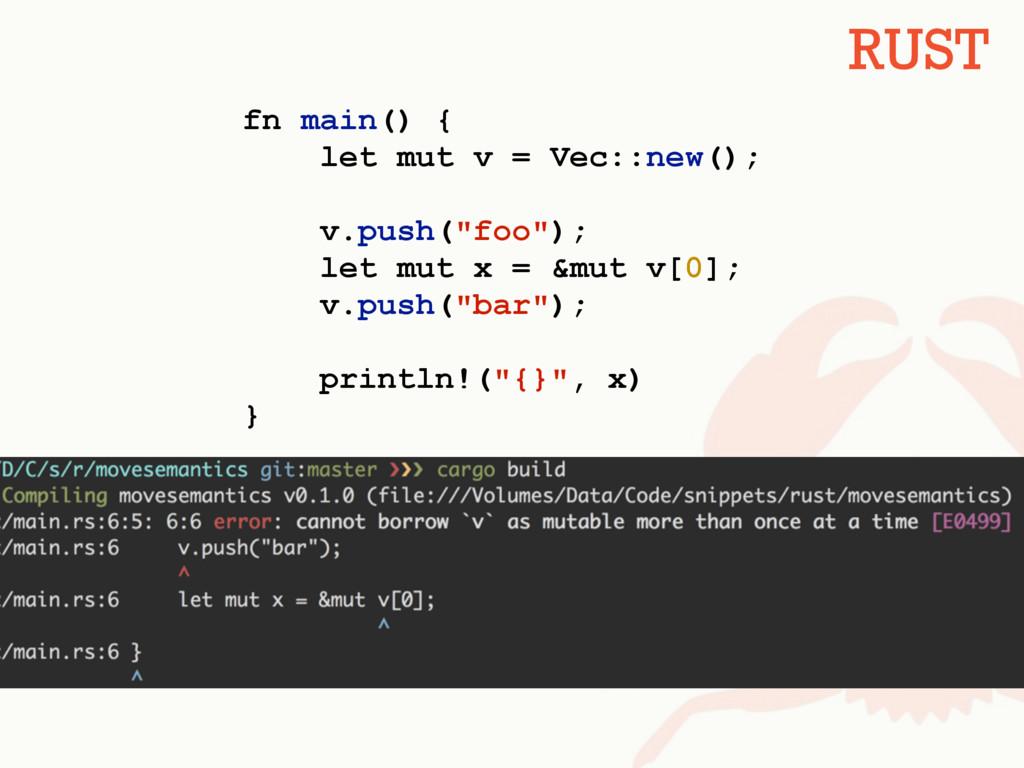 "fn main() { let mut v = Vec::new(); v.push(""foo..."
