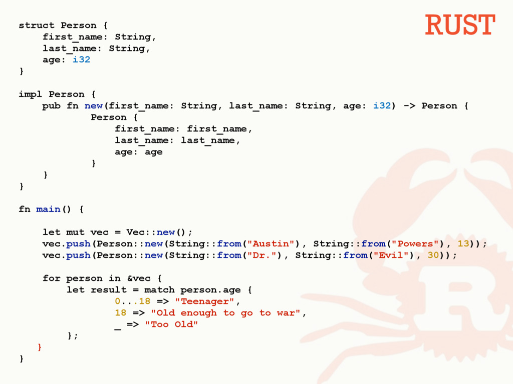 struct Person { first_name: String, last_name: ...
