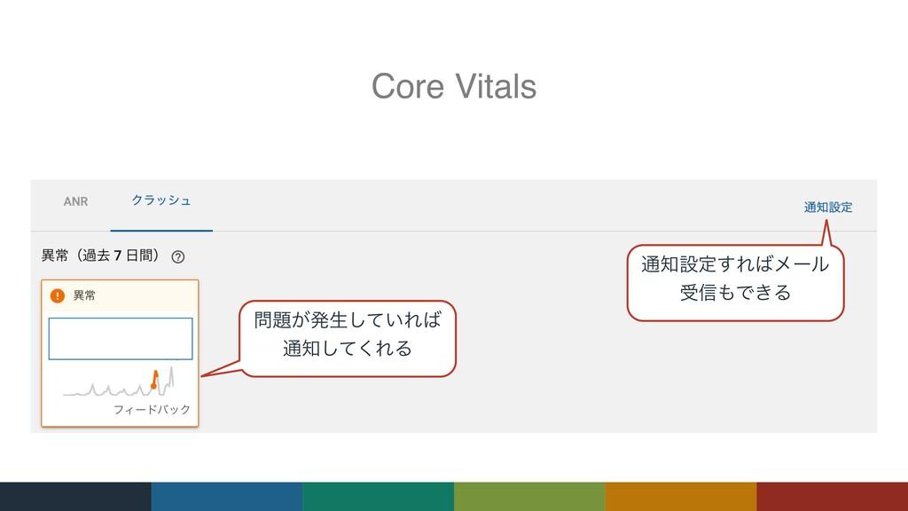 Core Vitals ͕ൃੜ͍ͯ͠Ε ௨ͯ͘͠ΕΔ ௨ઃఆ͢Εϝʔϧ ड৴Ͱ͖Δ