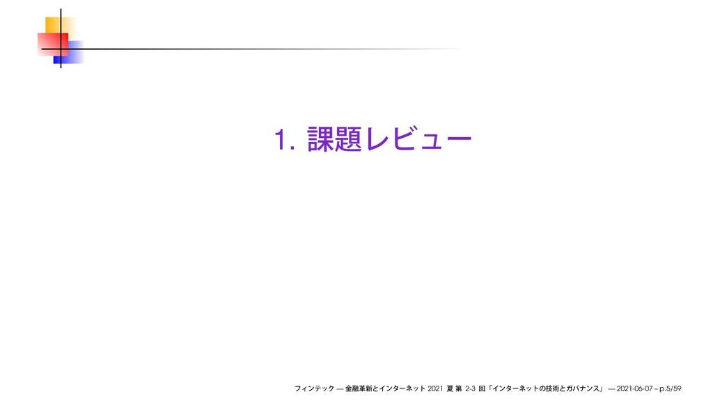 1. — 2021 2-3 — 2021-06-07 – p.5/59