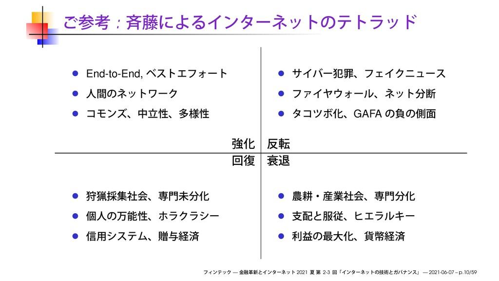 : End-to-End, GAFA — 2021 2-3 — 2021-06-07 – p....