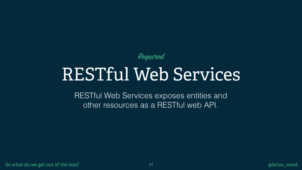 RESTful Web Services RESTful Web Services expos...