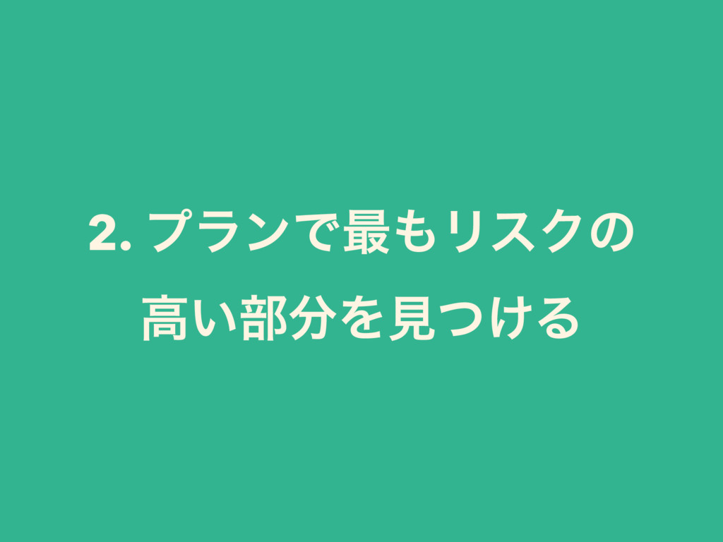2. ϓϥϯͰ࠷ϦεΫͷ ߴ͍෦Λݟ͚ͭΔ
