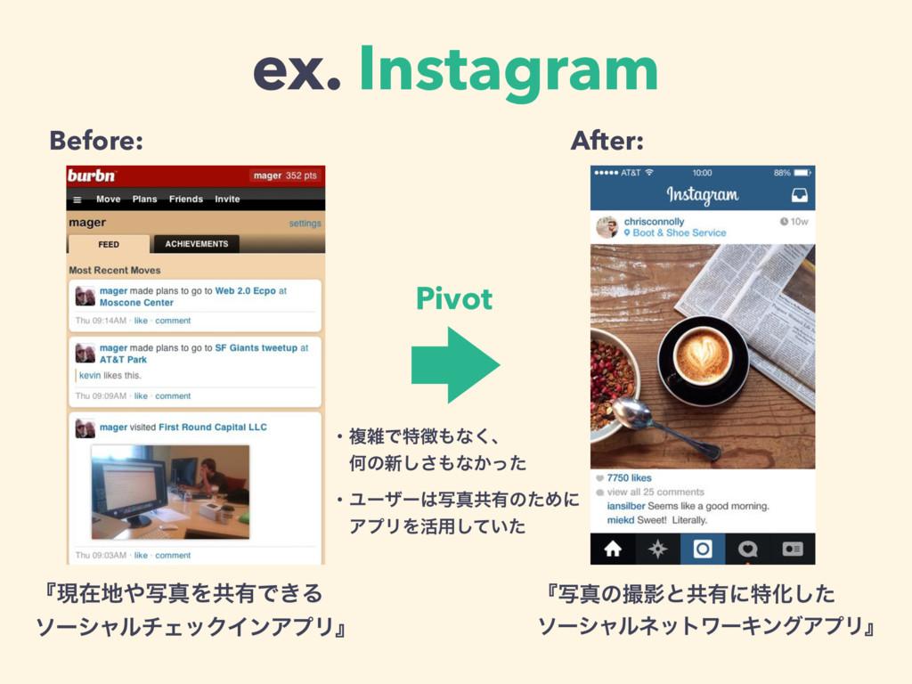 ex. Instagram ʰݱࡏࣸਅΛڞ༗Ͱ͖Δ ιʔγϟϧνΣοΫΠϯΞϓϦʱ ʰࣸਅ...