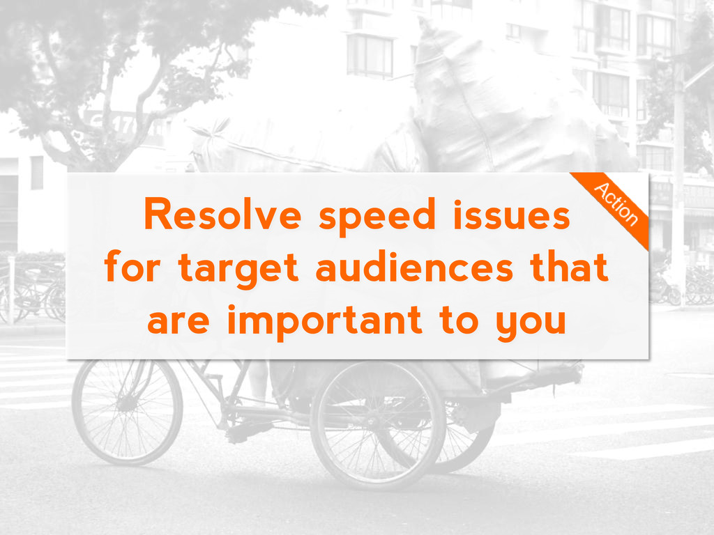 Resolve speed issues for target audiences that ...