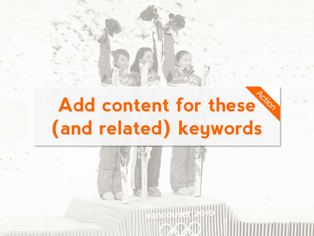 Add content for these (and related) keywords
