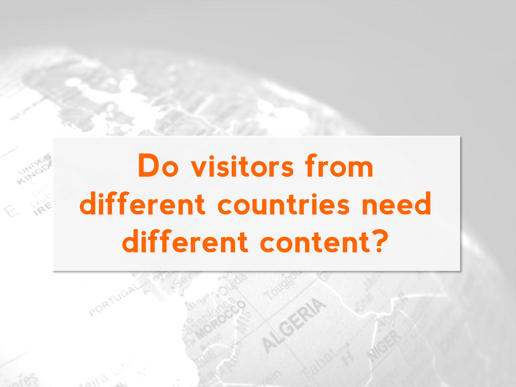 Do visitors from different countries need diffe...