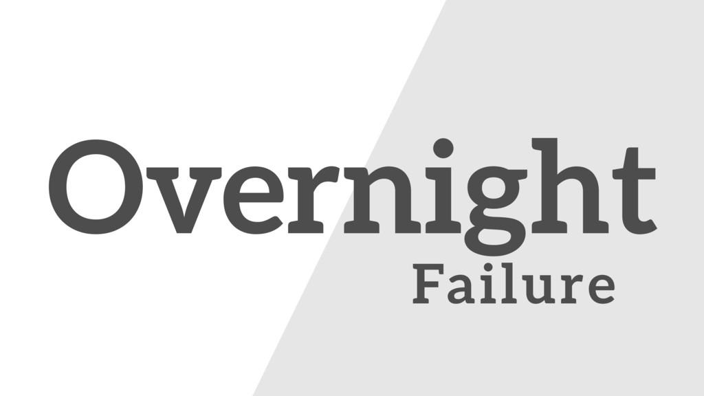 The Overnight Failure