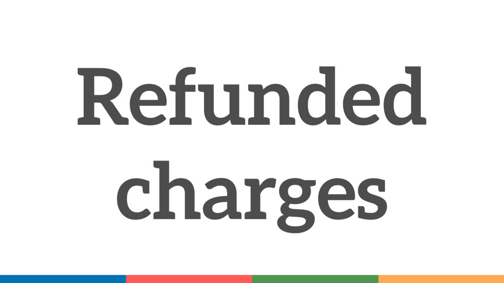 Refunded charges